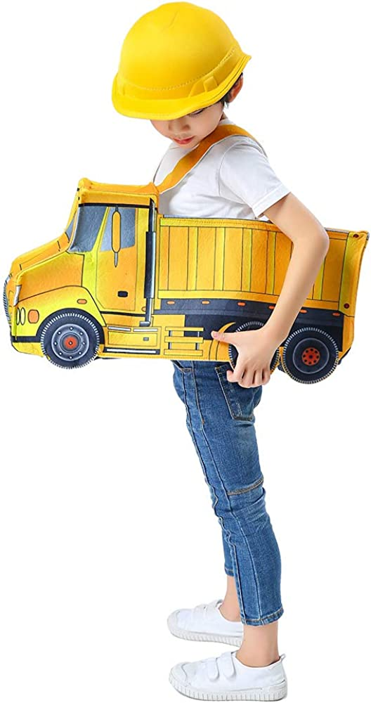 Dump Truck Costume Toddler One Size Construction 3D Ride On Vehicle /& Hat