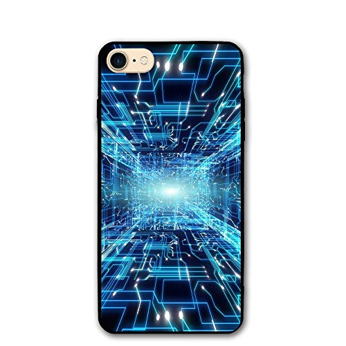 IPhone 8/8s Case Radiation Pattern Anti-Scratch PC Rubber Cover Lightweight Soft Slim Printed Protective Case ()
