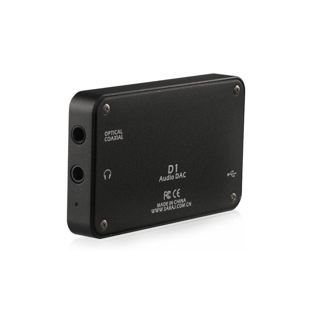 SABAJ Audio D1 portable headphone amplifier with build-in DAC Silver color by SABAJ (Image #3)