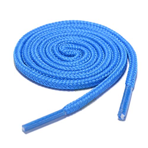 (Round Shoelaces 2 Pair - for Sneakers, Work Boots & Hiking Shoes (54 inches (137 cm), Blue))