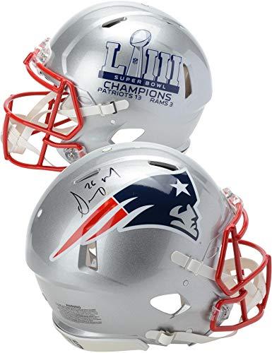 Sony Michel New England Patriots Autographed Riddell Speed Super Bowl LIII Champions Pro-Line Helmet - Fanatics Authentic Certified ()