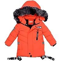 Odziezet Chaqueta Plumifero Niño Niña Abrigo de Plumas con Capucha Invierno Nieve Esqui 2-7 años