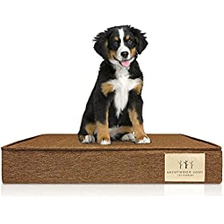 Brentwood Home 4-Inch Gel Memory Foam Orthopedic Pet Bed, 100% Made in USA, Waterproof, CertiPUR-US, Bronze, X-Large