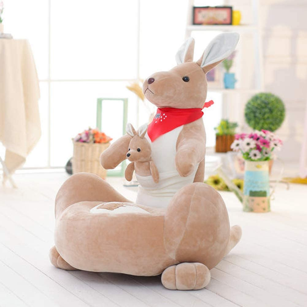 Baby Animal Cartoon Soft Chair,Furniture Armchair Wing Back Sofa Lounge Tub Fireside with Footstool Living Bed Room Office Modern Fabric Gaming Bean Bag Adult