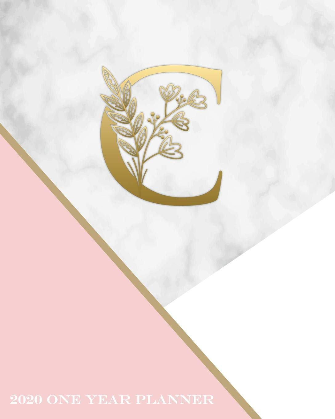 Schedule C 2020.C 2020 One Year Planner Elegant Gold Pink And Marble