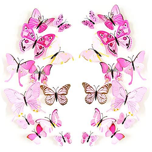 JYPHM Butterfly Removable Refrigerator Decoration