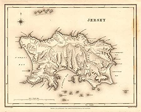 Map Of Uk Including Jersey.Antique Map Of The Island Of Jersey By Walker Creighton For Lewis