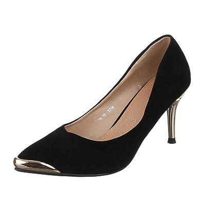 Ital-Design Damen Schuhe JN-39 Pumps High Heels