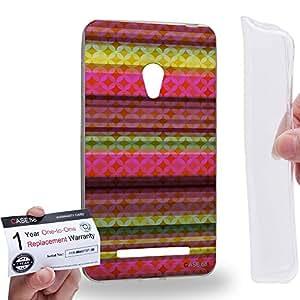 Case88 [Asus Zenfone 5] Gel TPU Carcasa/Funda & Tarjeta de garantía - Art Carpet And Tapestry Raspberry Art2015