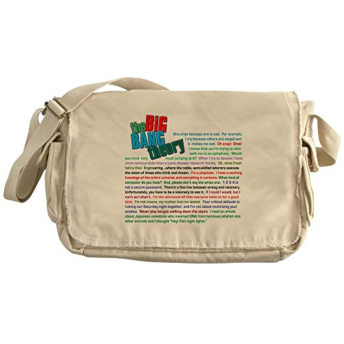 CafePress - The Big Bang Theory Quotes - Unique Messenger Bag, Canvas Courier Bag by CafePress