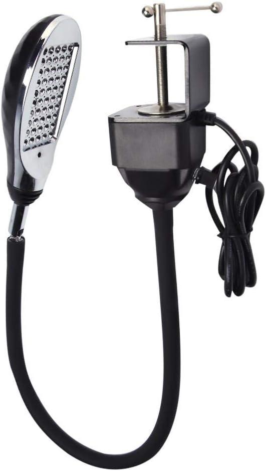 lampada da lavoro a 50 LED Lampada da scrivania flessibile a braccio doca a braccio 110-250V Lampada per macchina da cucire EU lampada per macchina da cucire industriale 8W con base magnetica