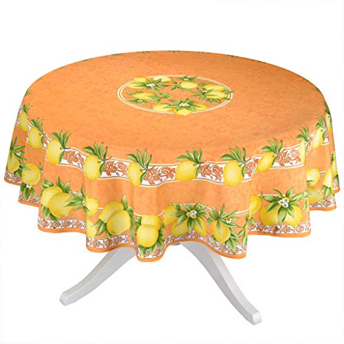 Citrus Orange French Provencal Tablecloth - 70