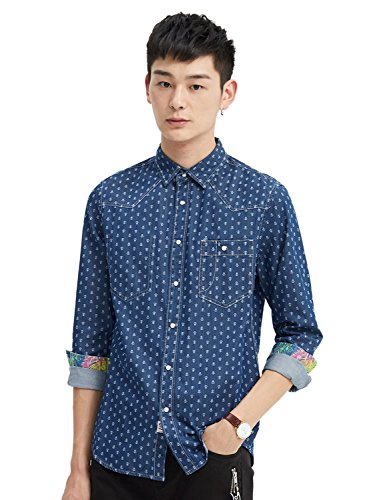 meters-bonwe-mens-long-sleeve-chest-pocket-casual-denim-shirt-blue-l