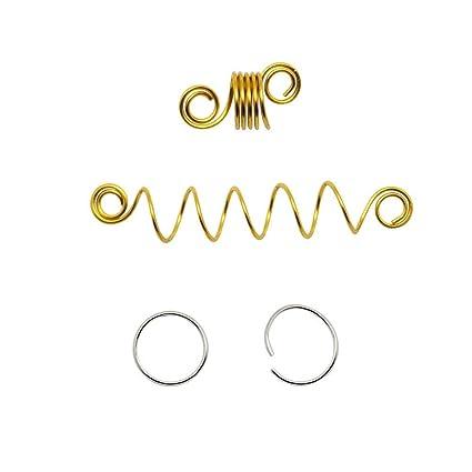 Amazon com: Lvcky Hair Braid Rings Hair Loops Spring Hair