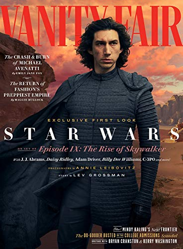 - Vanity Fair Magazine (Summer 2019) Star Wars The Rise of Skywalker Adam Driver Cover