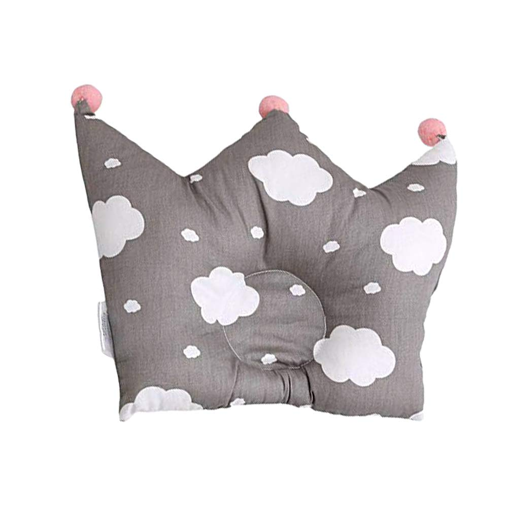 Grey Baby Pillows Cotton Nursing Pillow Correction Pillow Baby Pillow Preventing Flat Head Syndrome and Head Positioner Neck Support