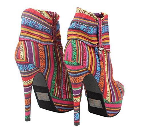 Platform Belt Women Booties J Suede Multi High Ankle Decor Faux 5 Stiletto Cuff Gold Heel xqYPqvwW4r