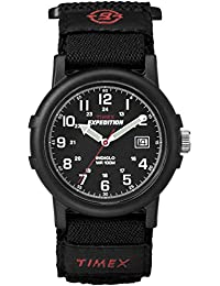 Men's T40011 Expedition Camper Black Fast Wrap Strap Watch
