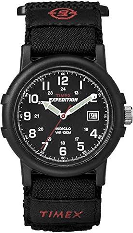 Timex Men's T40011 Expedition Camper Analog Quartz Black Watch - Timex Water Resistant Watch
