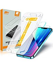 TEUMI Screen Protector Compatible with iPhone 13/iPhone 13 Pro 6.1 Inch 2021, [Upgraded Easiest Installation] [Case Friendly] Tempered Glass Film, 9H Hardness, Ultra-Clear, 2 Pack