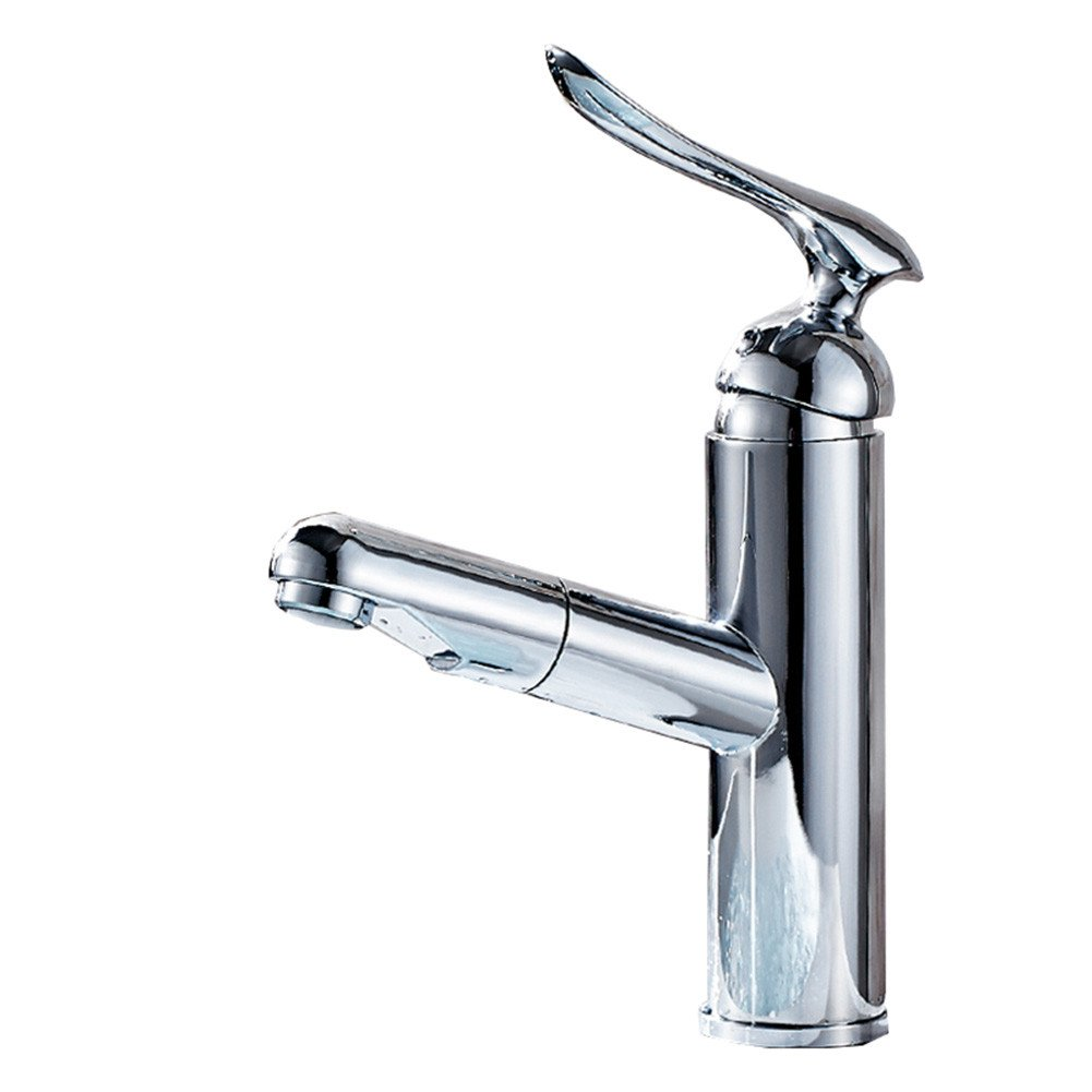 Good quality Water faucet basin mixer full copper pull faucet hot and cold wash basins wash basins toilet water faucet Single Hole