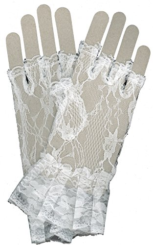 MUSIC (White Lace Fingerless Gloves)