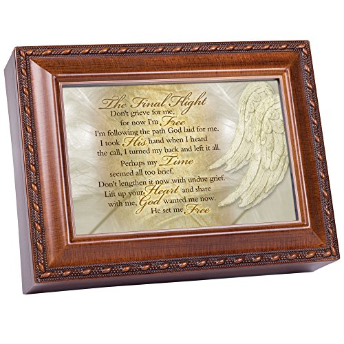 - Cottage Garden The Final Flight Bereavement Woodgrain Inspirational Traditional Music Box Plays Amazing Grace