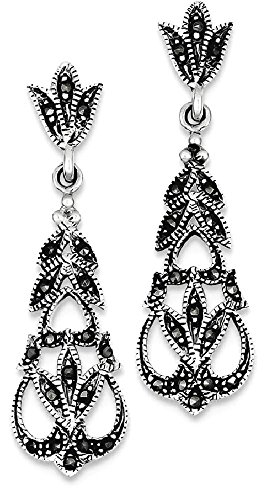 Buy marcasite hoop earrings sterling silver