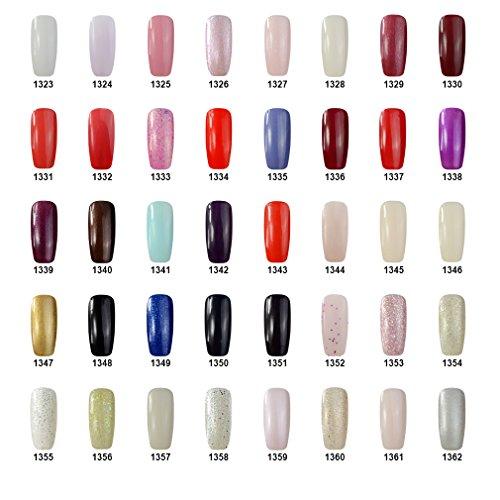 Qimisi Nail Starter Kit Pick Any 5 Colors Soak Off Gel Polish + Top Base Coat Set + 36W UV Lamp + Cleanser Plus + Manicure Tools Nail Files Removers Buffer Nipper Push