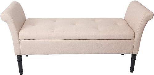 Modern Fabric Storage Bench