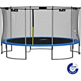 Kangaroo Hoppers 15-Feet Round Trampoline with Safety Net Enclosure and Spring Pad (Bonus L-Shaped Ladder Included)