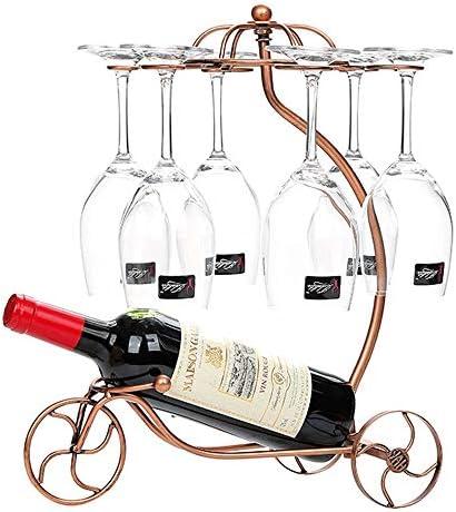 ゴブレットホルダー 6フックワイングラスホルダースタンド脚付きグラス乾燥芸術卓上ディスプレイラック ワインラック (Color : Bronze, Size : 33*19*40cm)