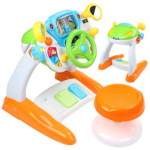 AMOSTING Pretend & Play Ride On Toys for Toddler Boys Learning & Educational Baby Driver Toy Cars for Preschool Kids