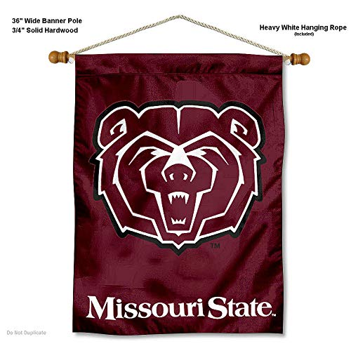 College Flags and Banners Co. Missouri State Bears Banner with Hanging Pole