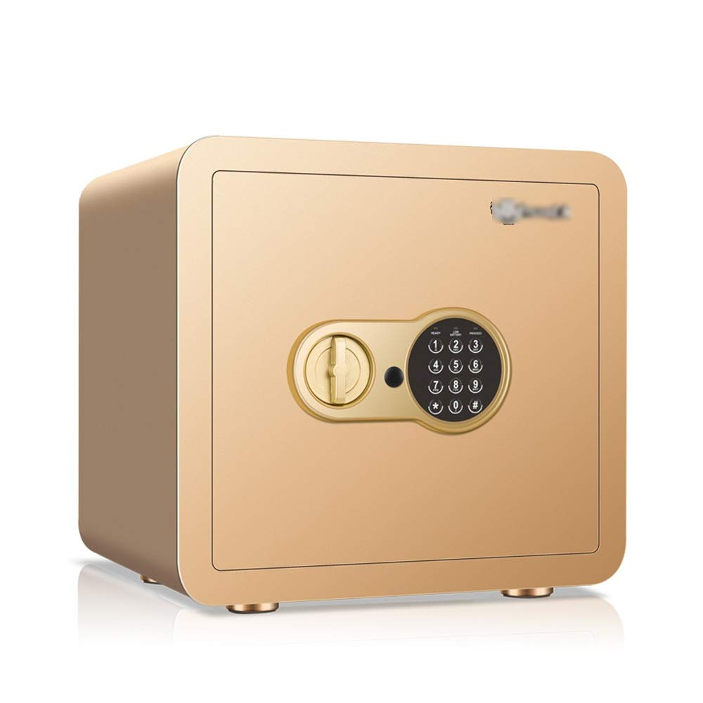 ZZHBXG Safes Small Deposit Box, Household 35cm high Office All Steel Into The Wall Mini Safe, Mechanical Anti-Theft Electronic Password Invisible Small Custody Safe Cabinet (Color : Gold)