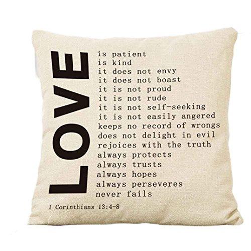 Crystal Emotion Couple Pillowcase, Square Pillow Cover Cushion Case Toss Pillowcase Hidden Zipper Closure 18x18inch