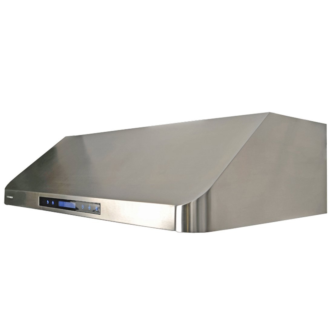 under cabinet touch screen range hood in stainless steel