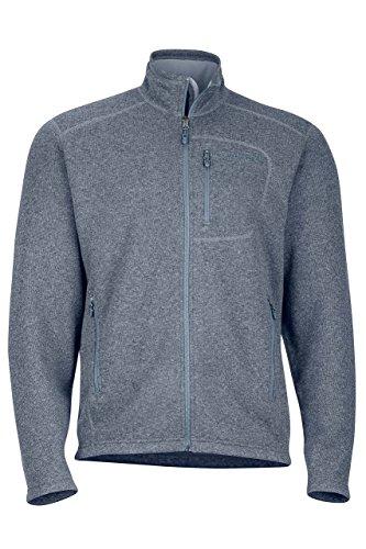 Marmot Drop Line Men's Jacket, Lightweight 100-Weight Sweater Fleece, Steel Onyx, X-Large (Mens Jackets Outerwear Marmot)