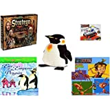 "Children's Gift Bundle - Ages 6-12 [5 Piece] - The Lord of The Rings Stratego Game - Stainless Steel Model Kit Tractor Toy - Melissa & Doug Penguin Large Plush 24"" - Eve of the Emperor Penguin (Magi"