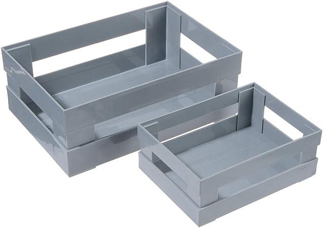 Uotyle - Organizador rectangular de plástico para el baño, organizador multifunción para mando a distancia y soporte cosmético: Amazon.es: Hogar
