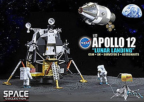Dragon Models 1 72 Apollo 12  Lunar Landing   Csm And Lunar Module  Intrepid  And Surveyor 3 And Astronauts