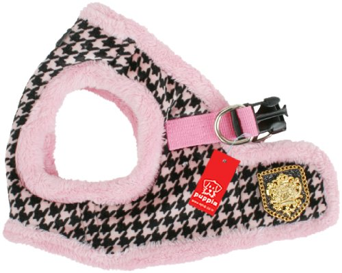 Puppia Authentic Downtown Harness B, Small, Pink, My Pet Supplies