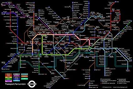 London England Subway Map.London England Underground Black Subway Map Decorative Educational