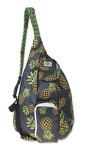 KAVU Mini Rope Pack Sling Bag Crossbody Shoulder Polyester Sling Backpack - Pineapple Party