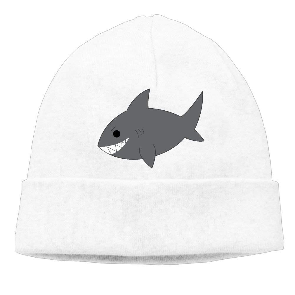 Go Ahead boy Unisex Cute Grey Shark Classic Fashion Daily Beanie Hat Skull Cap