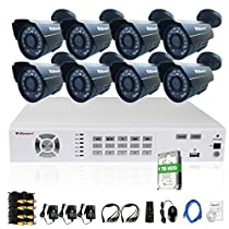 iSmart 8 Channel 960H HDMI DVR Kit with 1TB HDD including 8 800TVL Bullet Security Camera System with 24 Leds D5608WH+C1030DP8+1TB