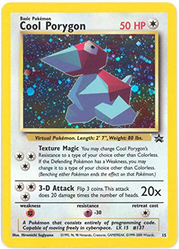 Pokemon Card - Black Star Promo #15 - COOL PORYGON (holo-...