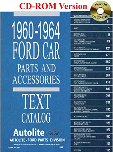 51t1otTUpDL._SX368_BO1204203200_ 1960 thru 1964 ford car parts and accessory catalog ford motor