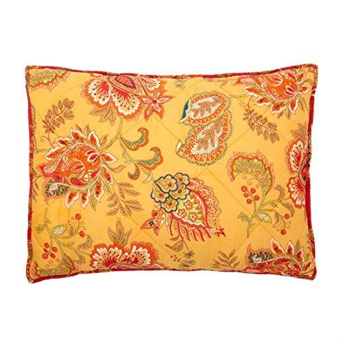 Brylanehome Barika Reversible Sham (Sunset Gold,Stand) (Sunset Quilt Pattern)