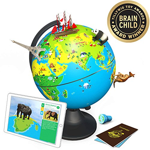 Image of the Shifu Orboot: The Educational, Augmented Reality Based Globe | STEM Toy for Boys & Girls Age 4 to 10 years | Ideal Gift for Kids (No Borders or Names on Globe)